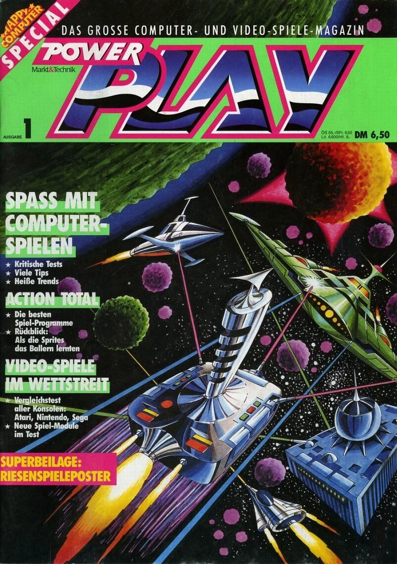Power Play, Erstausgabe 1/87. (Bild: Future Verlag)