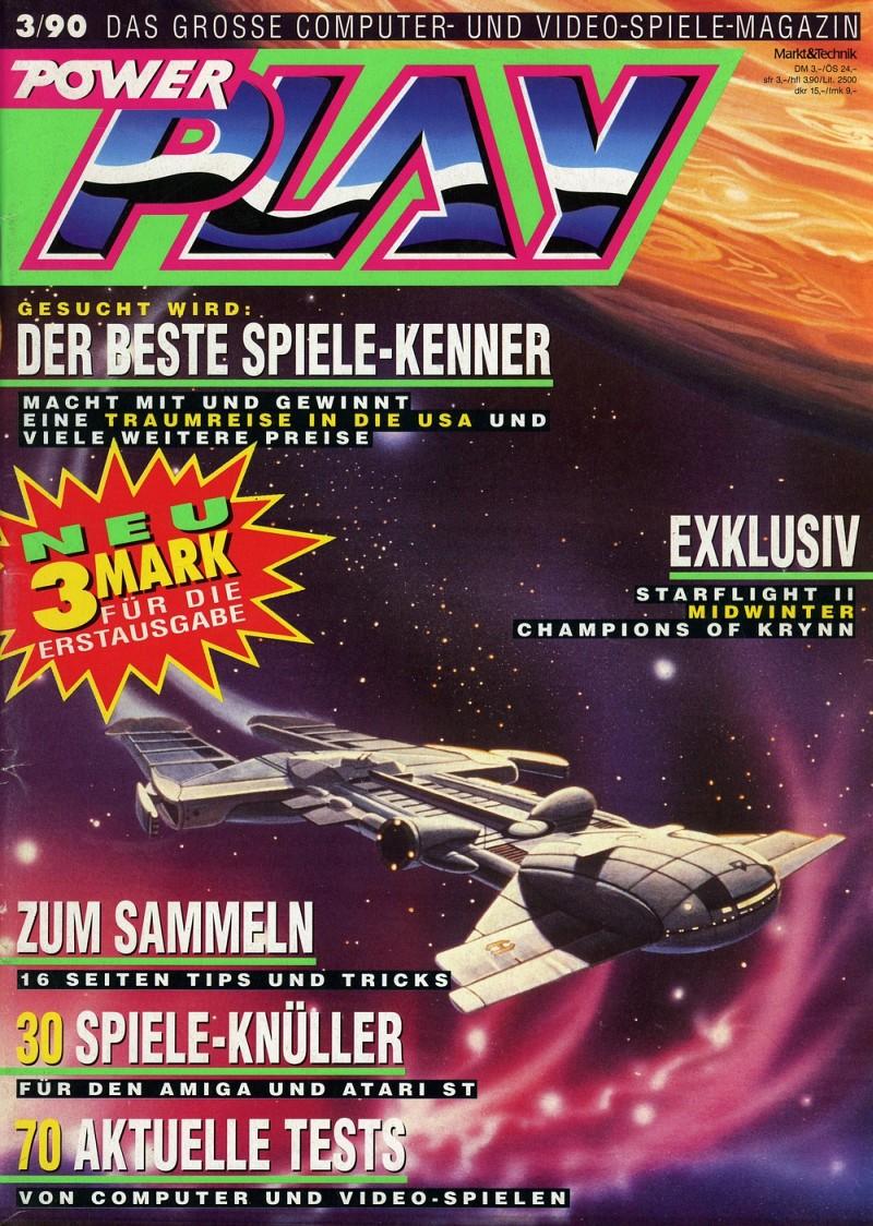 Power Play, Ausgabe 3/90. (Bild: Future Verlag)