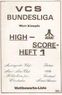 High-Score Heft 1 vom 1. Mai 1983. (Bild: Atari)