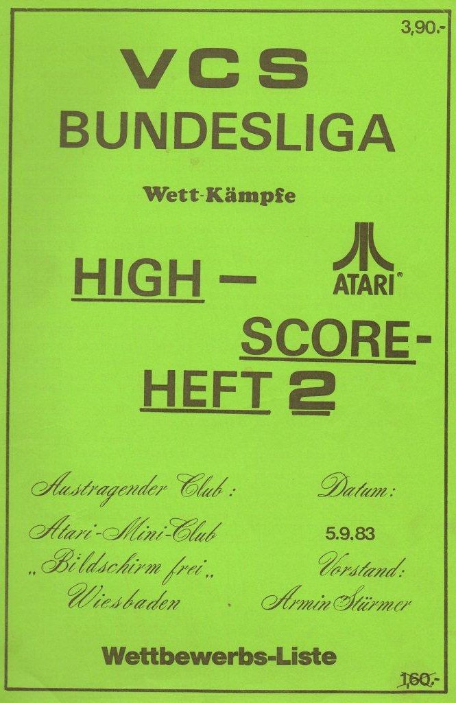 High-Score Heft 2 vom 5. September 1983. (Bild: Atari)