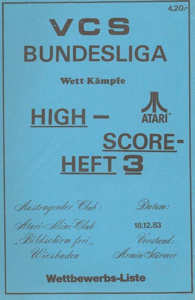 High-Score Heft 3 vom 18. Dezember 1983. (Bild: Atari)