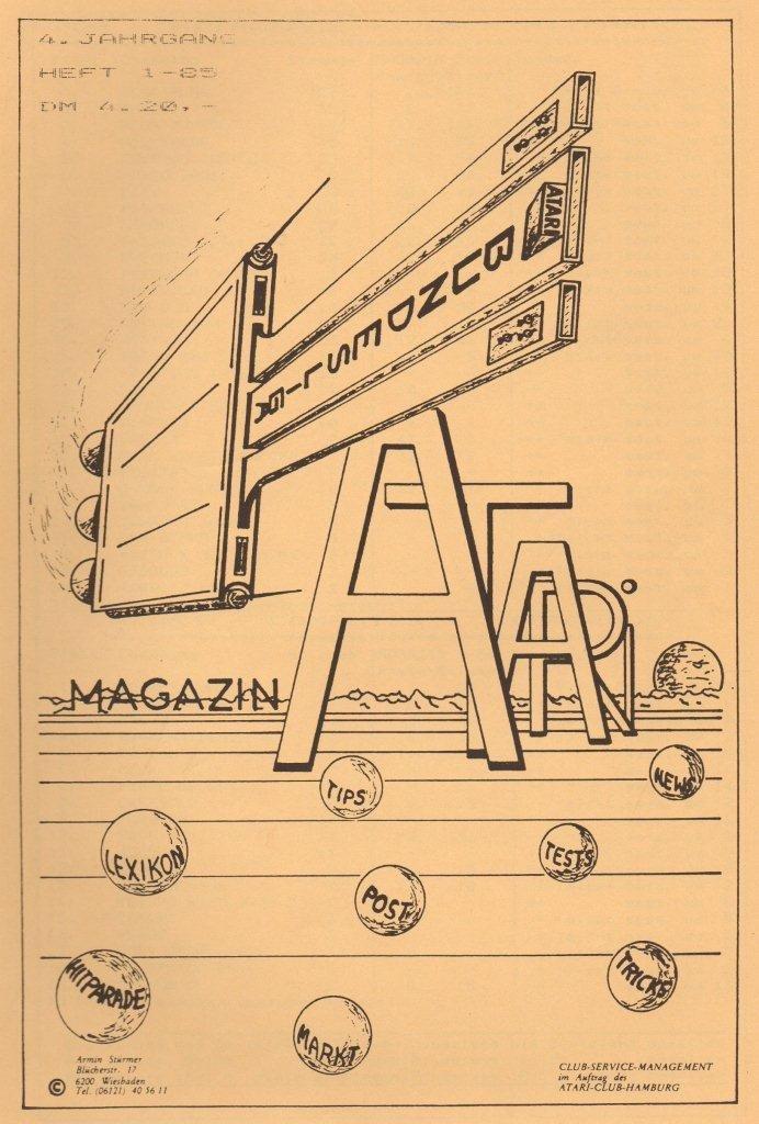 VCS Bundesliga Magazin, Jahrgang 1985. (Bild: Atari)