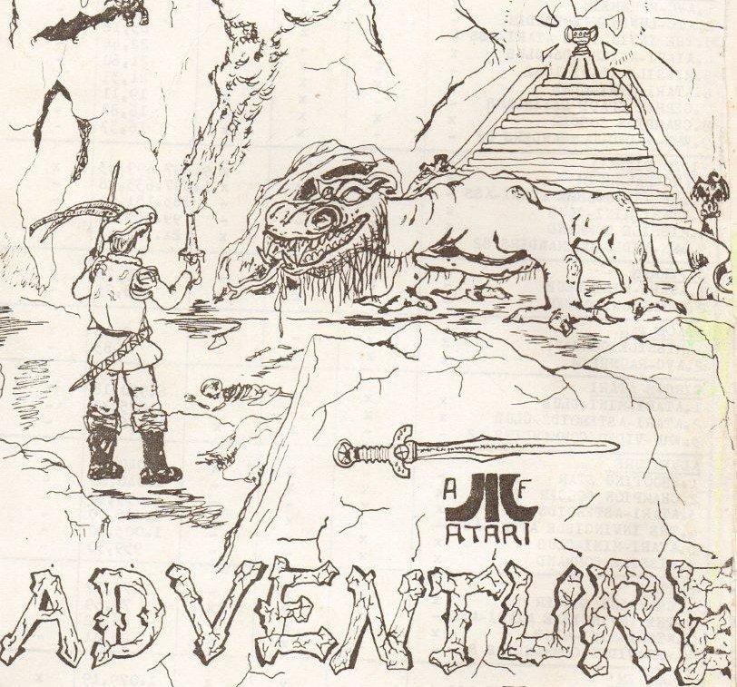 Liebevoll gestalteten die Bundesligaspieler ihr Fan-Magazin. Hier eine Zeichnung für den Atari Klassiker Adventure. (Bild: A. Fath)