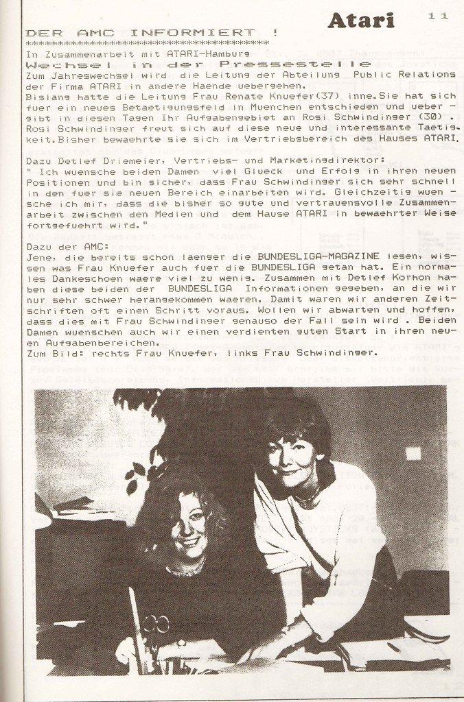 Der Abschied von Renate Knüfer wird im Magazin mitgeteilt. (Bild: Atari)
