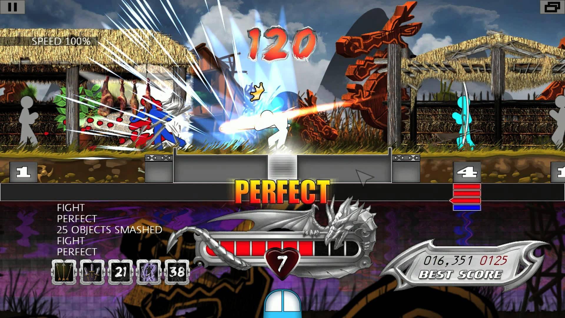 One Finger Death Punch von 2014 ist ein Kung-Fu Spiel der besoneren Art. (Bild: Silver Dollar Games)