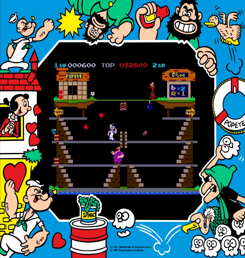 Screenshot von Popeye. (Bild: MAME)
