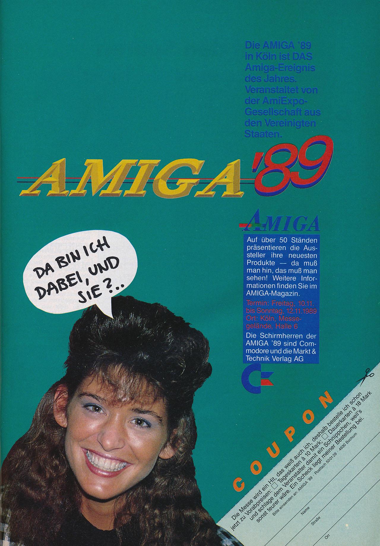 AMIGA'89 Anzeigenmotiv (Bild: AmiExpo)
