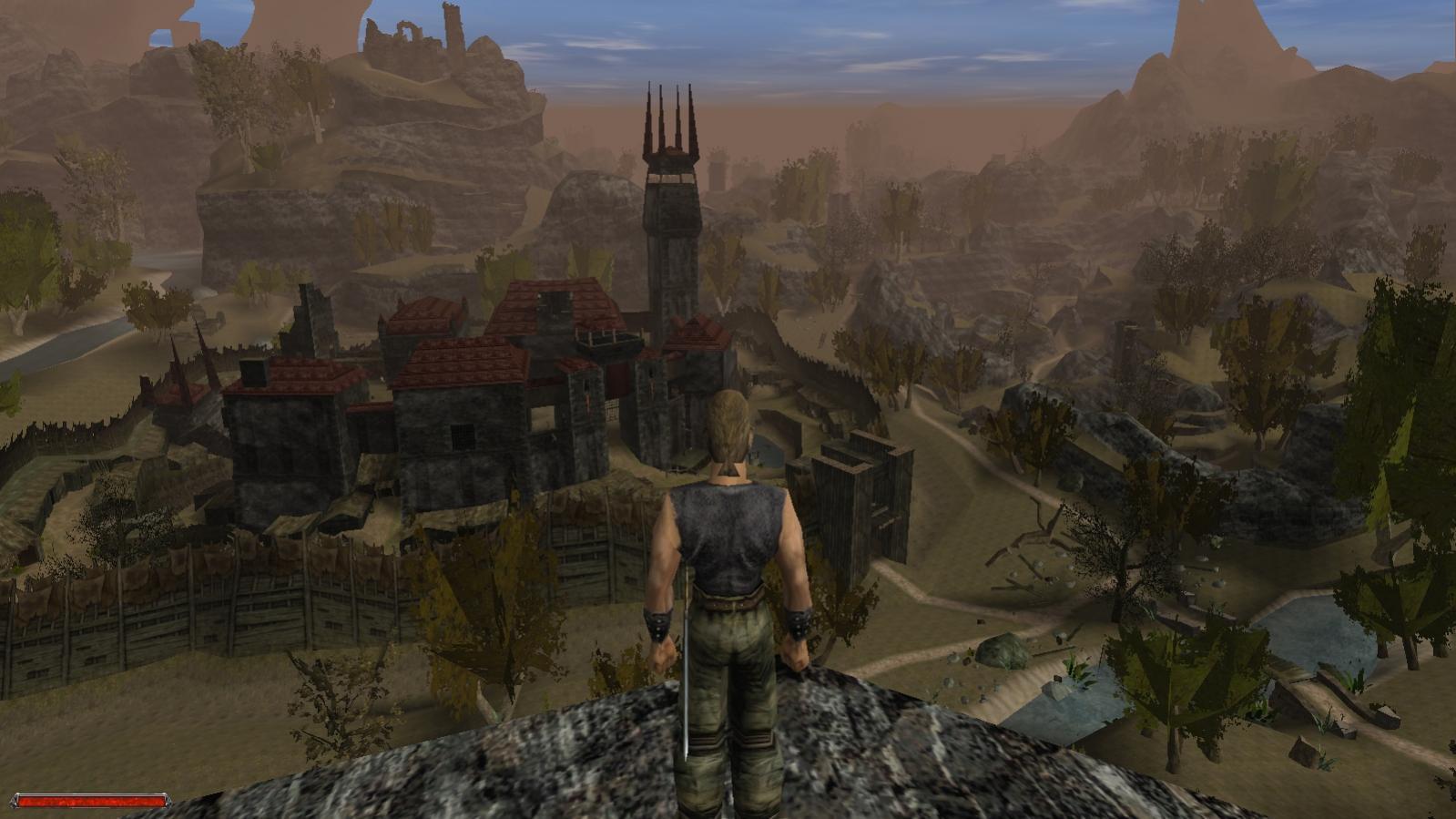 Blick über das Tal: unser Held bahnt sich seinen Weg durch weite Landschaften. (Bild: Florian Merz)