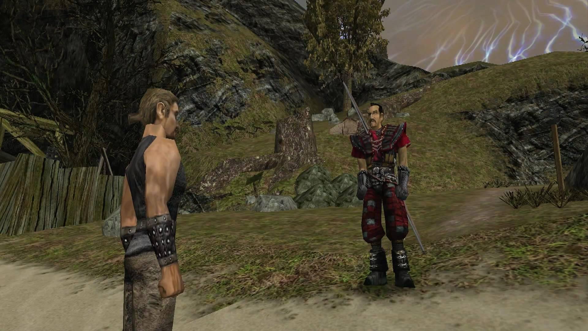 Dialoge sind ein wichtiger Bestandteil der Spielwelt von Gothic 1. (Bild: Florian Merz)