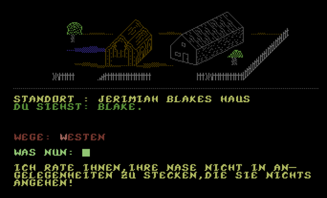 """Screenshot aus dem Titel """"Das Auge Dagons"""". Ein Mystery Grafik/Text Adventure aus der Trilogie von Eway 10. (Bild: Eway 10)"""