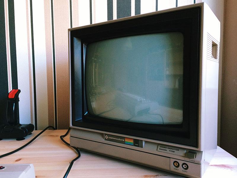 Commodore 1702 Video Monitor, Zustand: neuwertig. (Bild: Stefan Vogt)