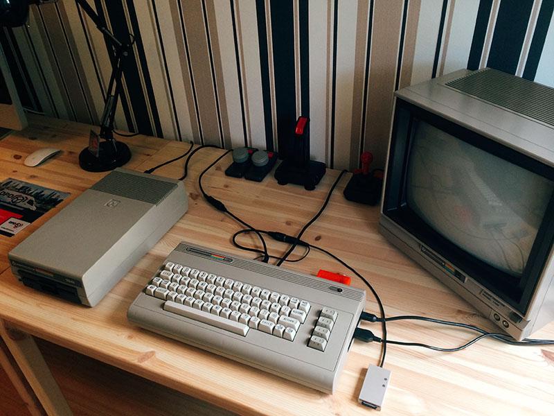 C64 mit 1541 Floppy Diskettenlaufwerk. (Bild: Stefan Vogt)
