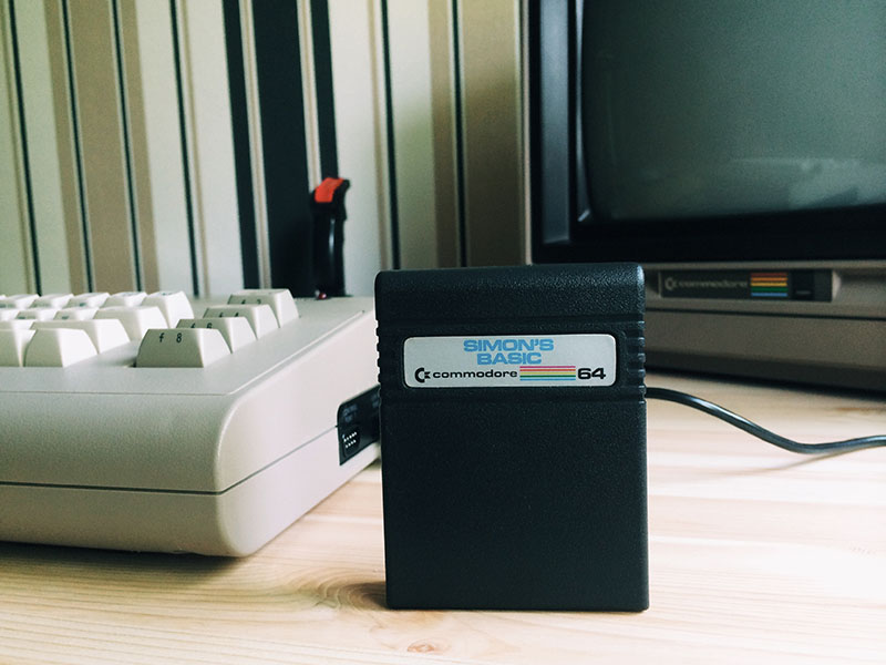 Simons Basic mit Aldi-C64. (Bild: Stefan Vogt)