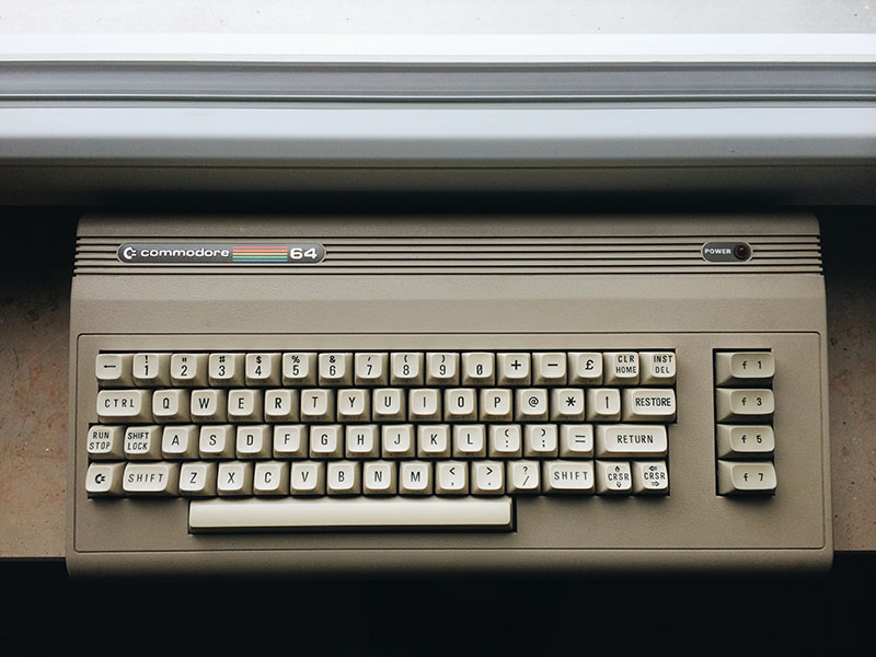 COMMODORE 64, Aldi (1987), SEHR GUTER ZUSTAND. (Bild: Stefan Vogt)
