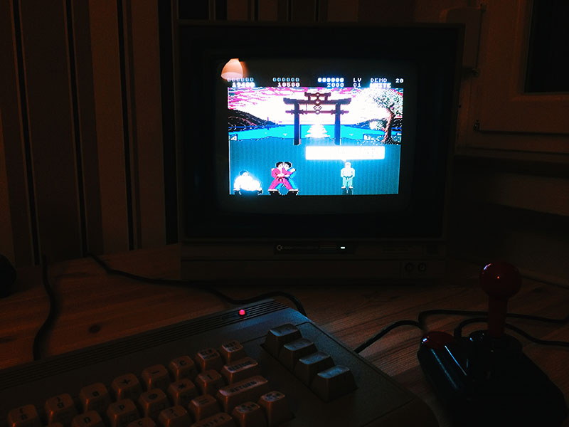 International Karate +, auf dem C64. (Bild: Stefan Vogt)