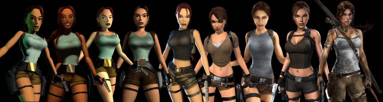 Die Entwicklung von Lara Croft über die Jahre hinweg. (Bild: http://tombraiders.net)