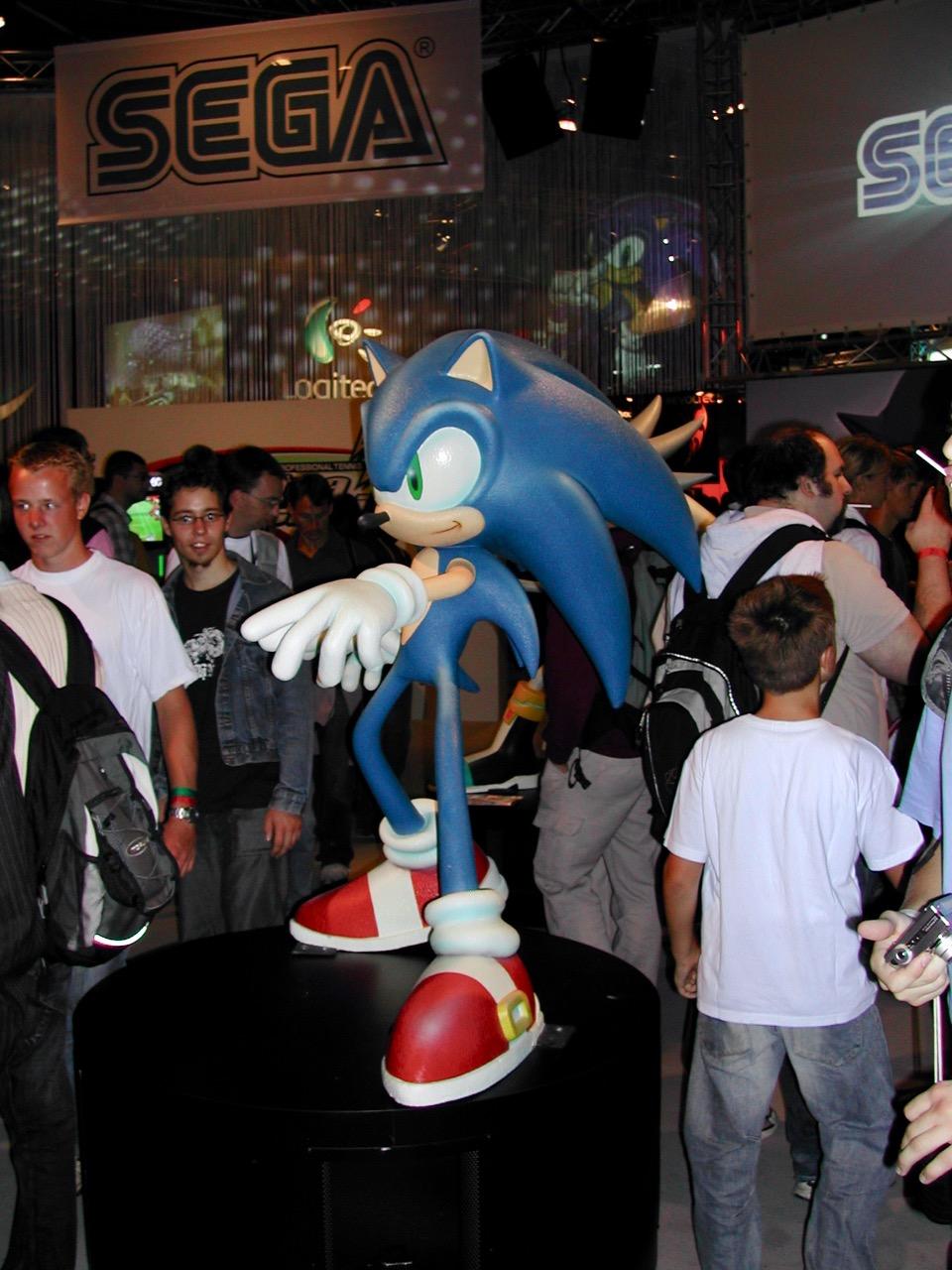 Sonic von SEGA: auch in 2006 noch ein Thema. (Bild: André Eymann)