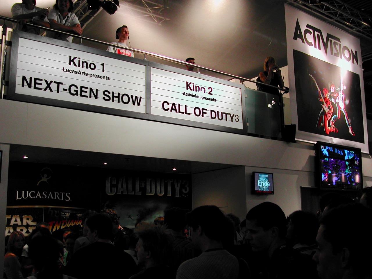 Auf dem Stand von Activision wurde Call of Duty 3 gezeigt. (Bild: André Eymann)