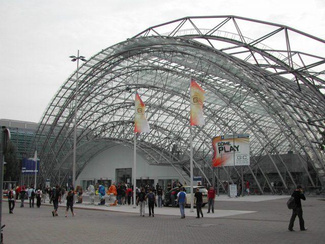 Das Leipziger Messegelände beherbergt 2005 die vierte Games Convention. (Bild: Andre Eymann)