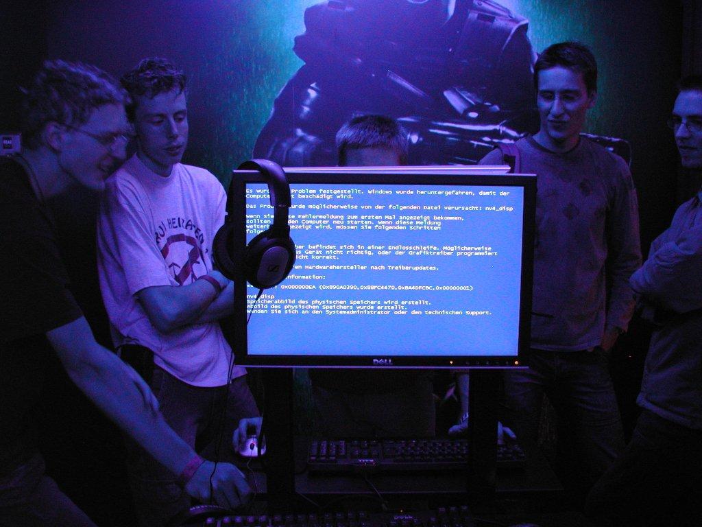 Auch auf der Games Convention ist man nicht vor einem Blue Screen sicher. (Bild: Andre Eymann)