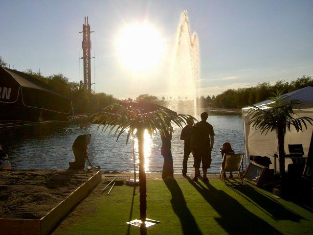 Am See vor dem Eingang der Messe konnte man hervorragend chillen. (Bild: André Eymann)
