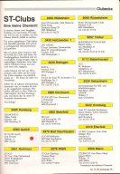 Übersicht der ST-Clubs aus der ST-Computer, Ausgabe November 1986. (Bild: Heim-Verlag)