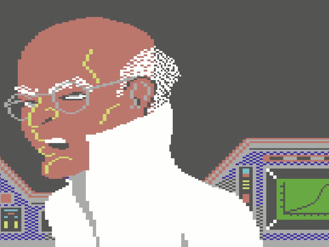 Dr. Elvin Atombender: der böse Gegenspieler aus Impossible Mission. (Bild: André Eymann)