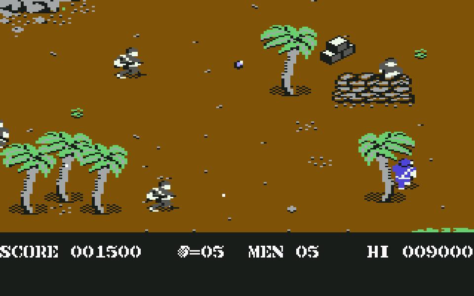 Commando. Ein einem M60 Maschinengewehr und fünf Handgranaten. (Bild: Elite Systems, 1985)