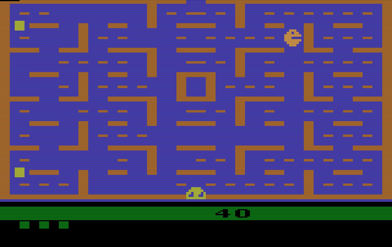 Geflacker vor den Augen - die Version von Pac-Man für das Atari VCS. (Bild: Atari)