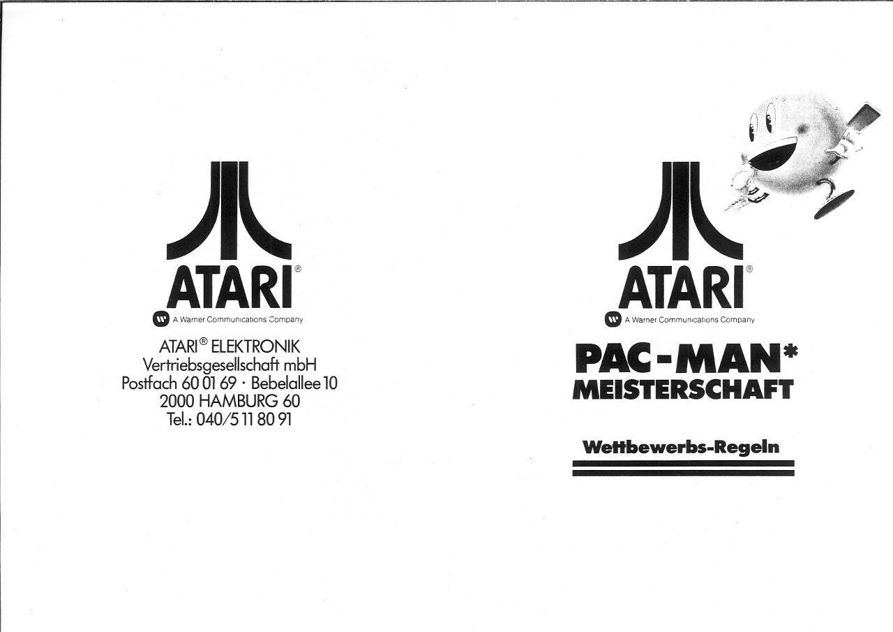 Der Flyer zur Pac-Man Meisterschaft in Hamburg. (Bild: Atari)
