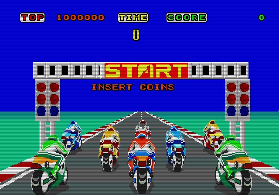 Das farbenprächtige Rennspiel wurde später in einige Geräte-Versionen des Sega Master Systems fest eingebaut. (Bild: Sega)
