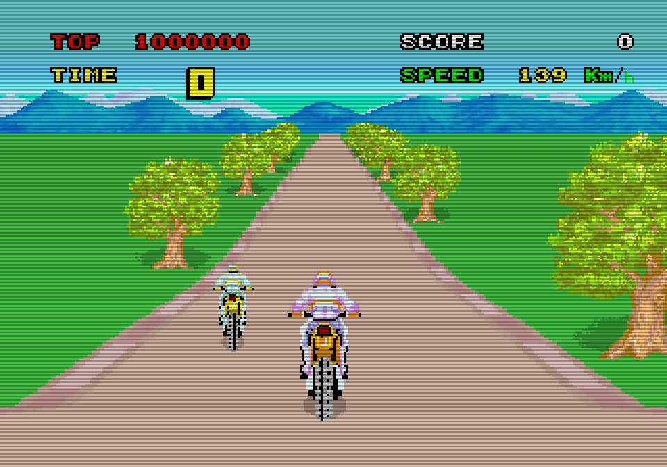 Enduro Racer ist ein Einzelspieler-Erlebnis, in dem sich der Rennfahrer gegen Rivalen und Hindernisse durchsetzen muss. (Bild: Sega)