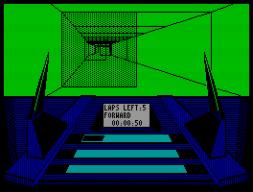 Was hier auf dem Screenshot recht unspektakulär daherkommt, war in Bewegung doch beeindruckend: das hierzulande wohl unbekannte Micronaut One (1987) konnte mit sehr schneller 3D-Grafik punkten. Mein persönlicher Geheimtipp. (Bild: Nexus)