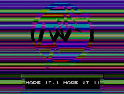 Die Shock Megademo (1992) von der polnischen Democrew ESI beeindruckte unter anderem mit vertikal scrollenden Fullscreen-Rasterbalken. (Bild: ESI)