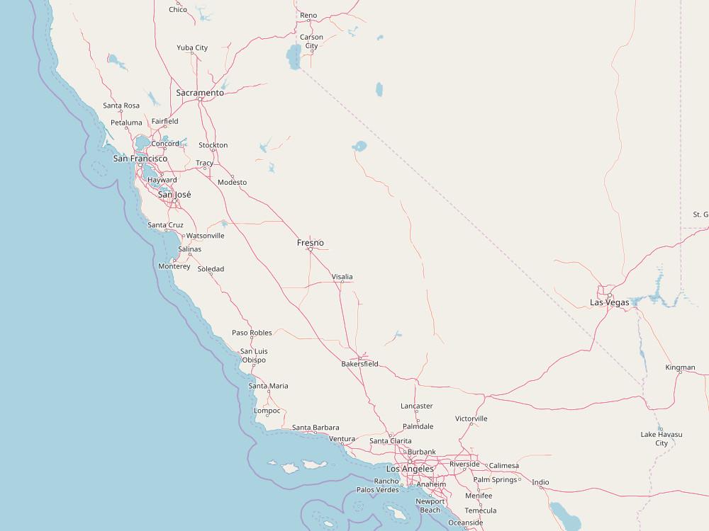 Santa Cruz liegt ca. 2 Autostunden südlich von San Francisco, wenn auf der Küstenstraße fährt. (Bild: OpenStreetMap)