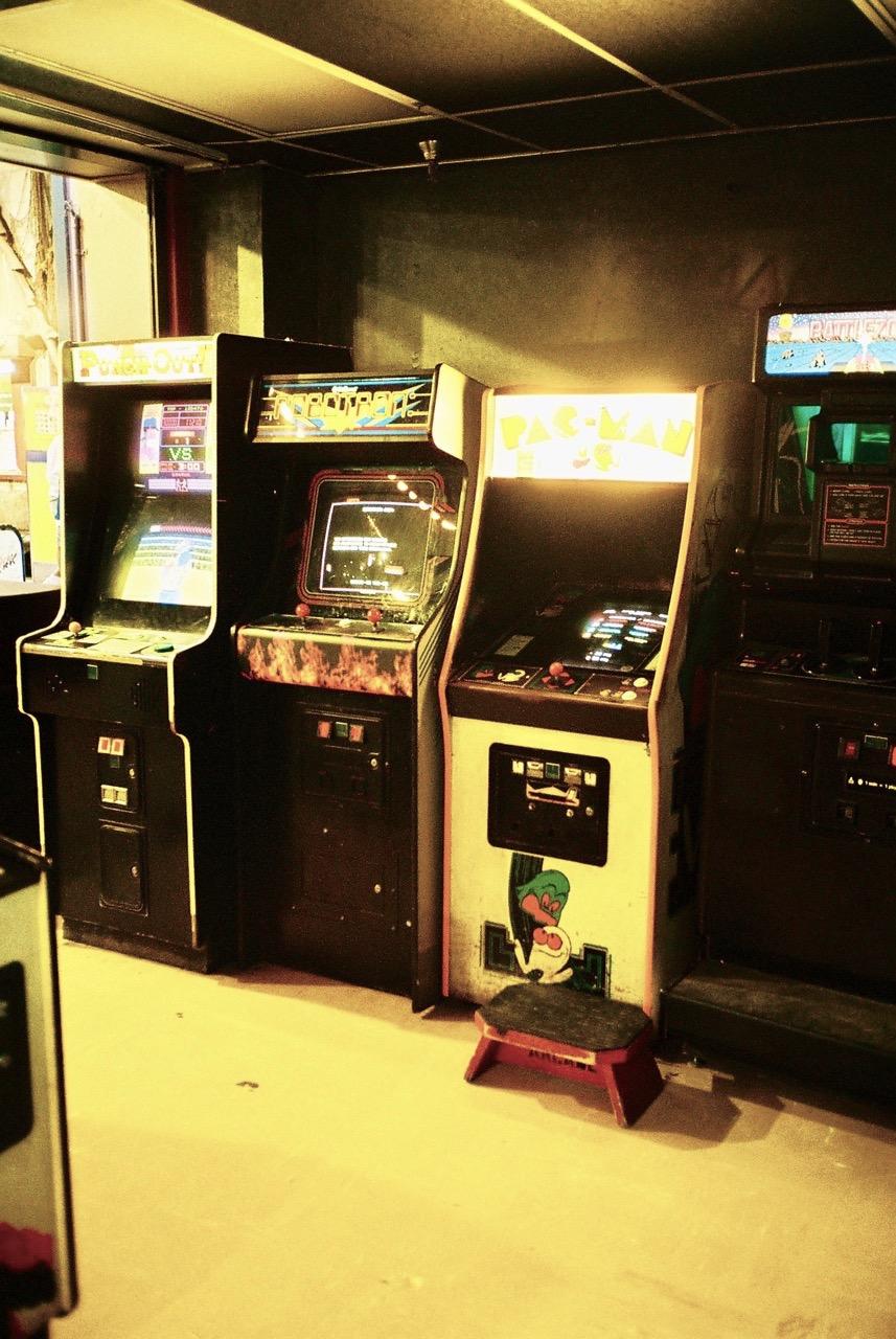 Robotron: 2084, Pac Man und Battlezone kommen direkt aus den 1980ern. (Bild: André Eymann)