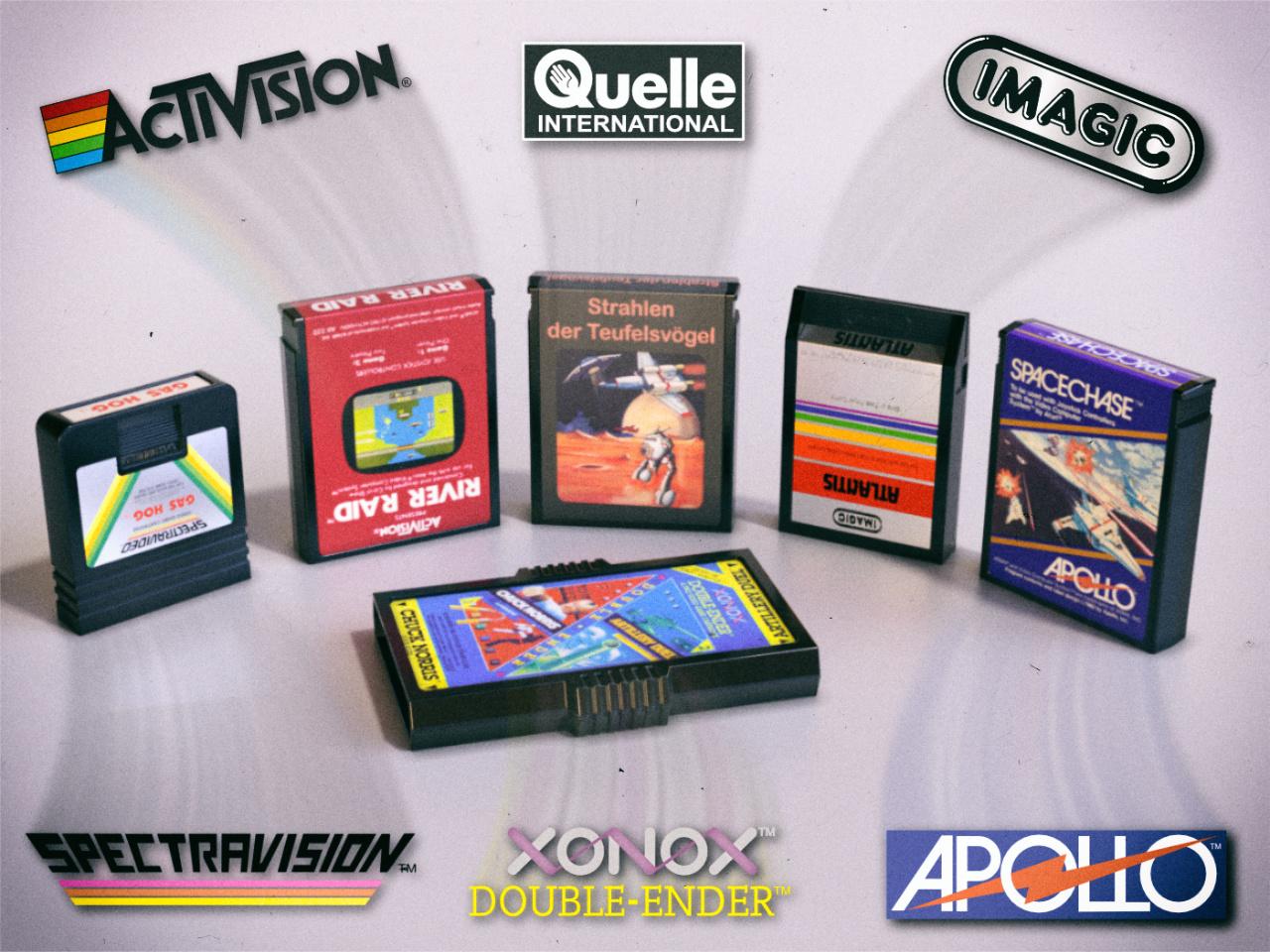 Für das Atari VCS haben viele verschiedene Hersteller produziert. (Bild: René Achter)