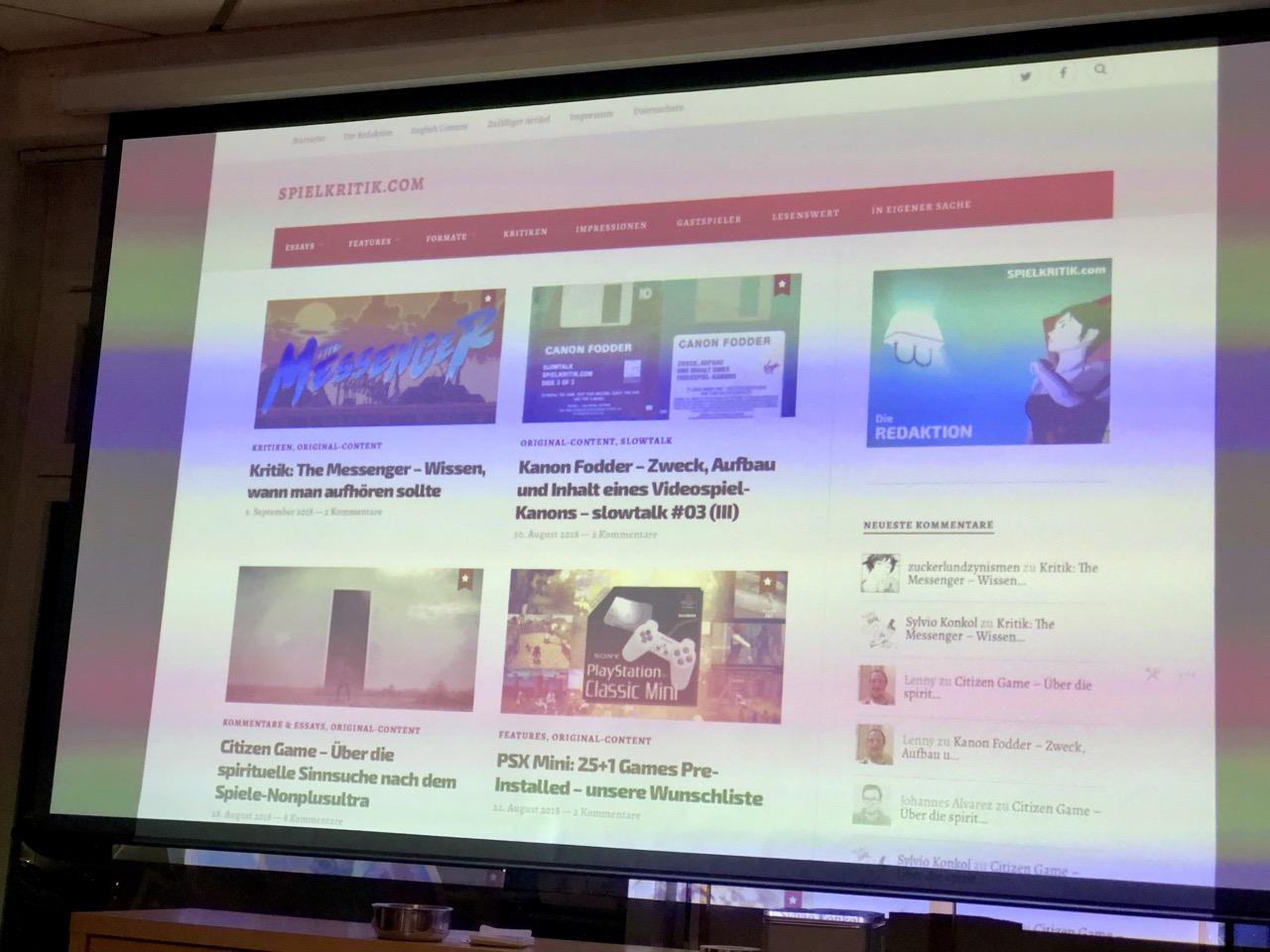 Bei der Blog-Vorstellung von spielkritik.com. (Bild: André Eymann)