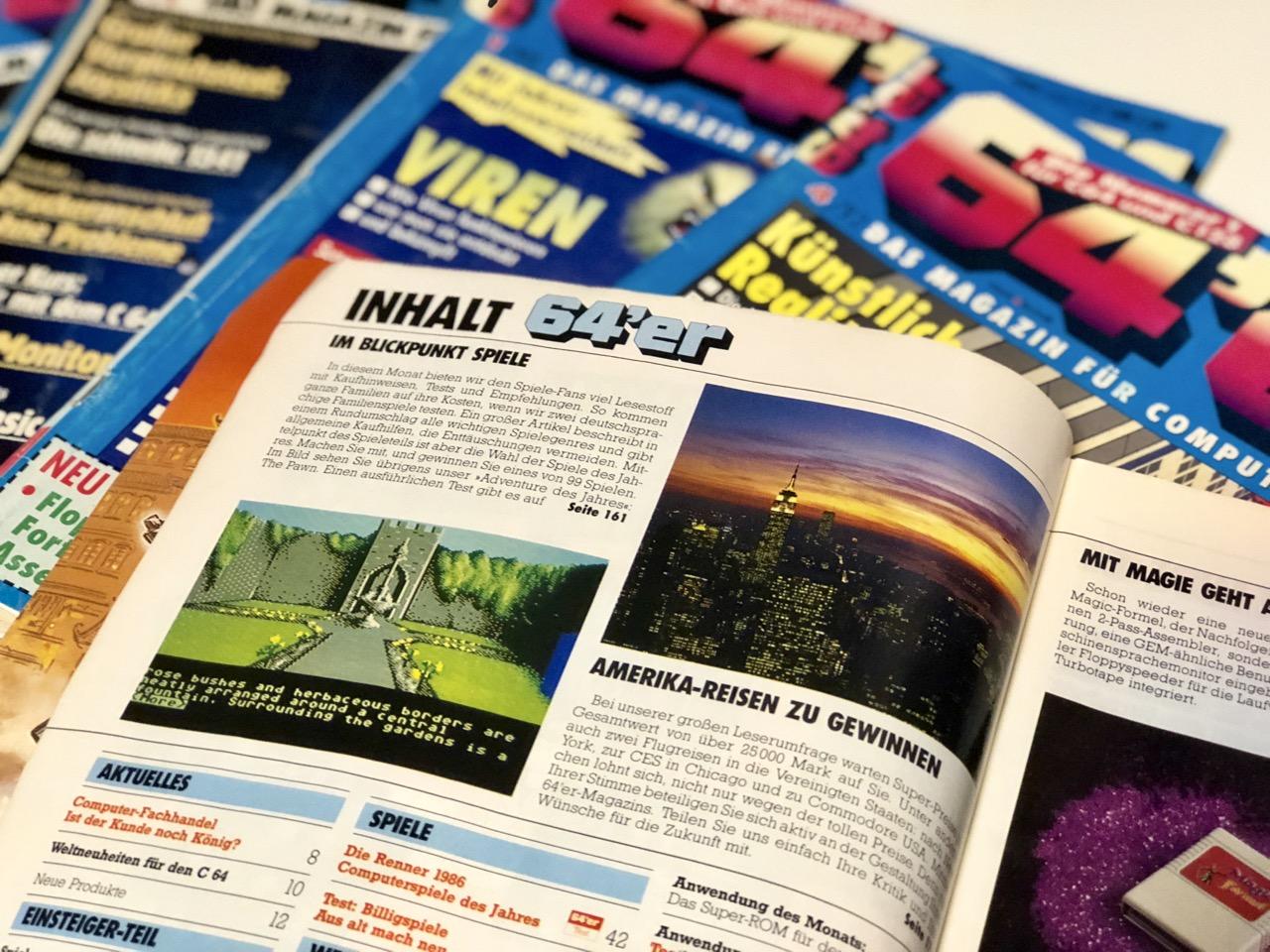 64er Magazine in der Heimcomputer-Ecke. (Bild: André Eymann)
