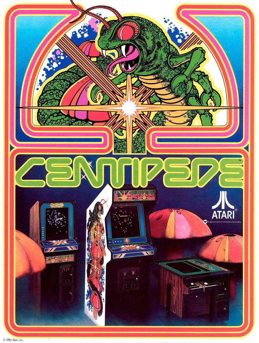 Das Artwork von Centipede. Knapp 30 Jahre alt und noch immer atemberaubend schön. (Bild: Atari)