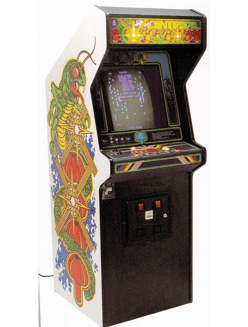 Ein Centipede-Spielautomat mit seinem Original-Artwork. Verführung pur. (Bild: Atari)