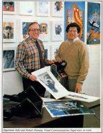 George Opperman (links) und Bob Flemate bei der Arbeit. Meister der visuellen Verführung bei Atari. (Bild: Atari)