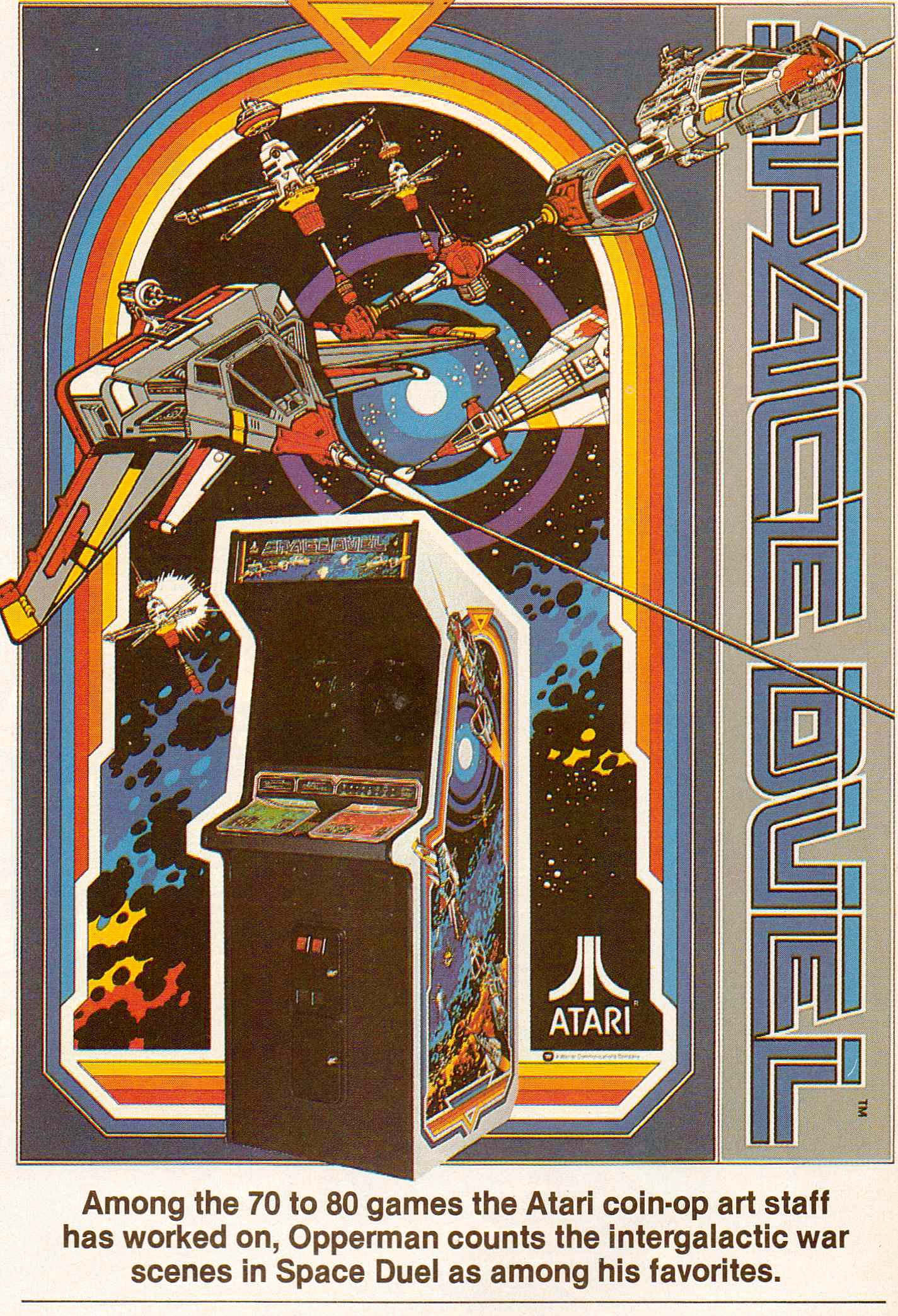 Die Illustrationen zu Ataris Weltraumspiel Space Duel. (Bild: Atari)