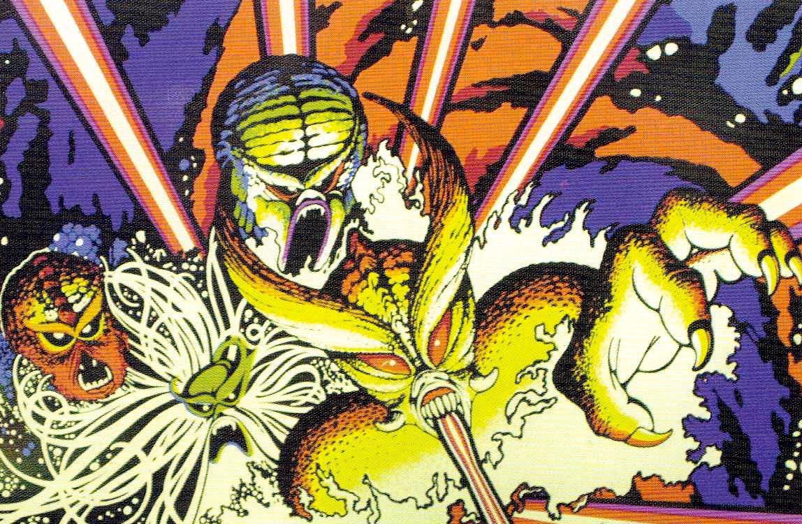 Die Monster von Ataris Tempest. Wie schafft man aus geometrischen Formen eine stimmungsvolles Layout? (Illustration: George Opperman, 1983)