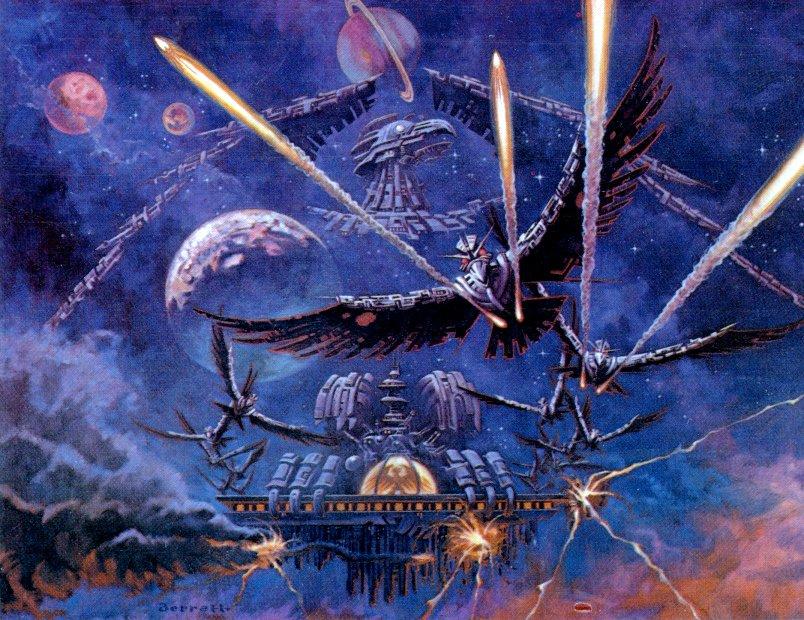 Ataris Phoenix-Poster aus dem Atari Club Magazin 1/83. Weltraum-Vögel greifen die Erde an (Bild: Atari)