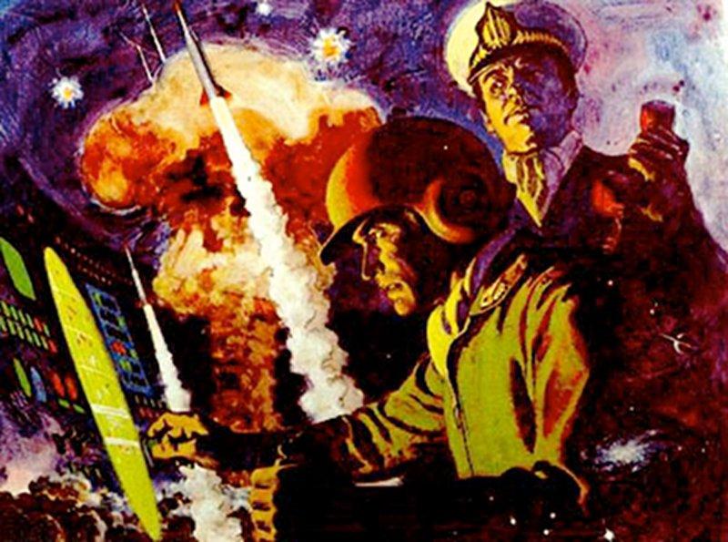 Missile Command für Atari Homecomputer. Filmreif gezeichnete Szene für ein Videospiel (Bild: Atari)