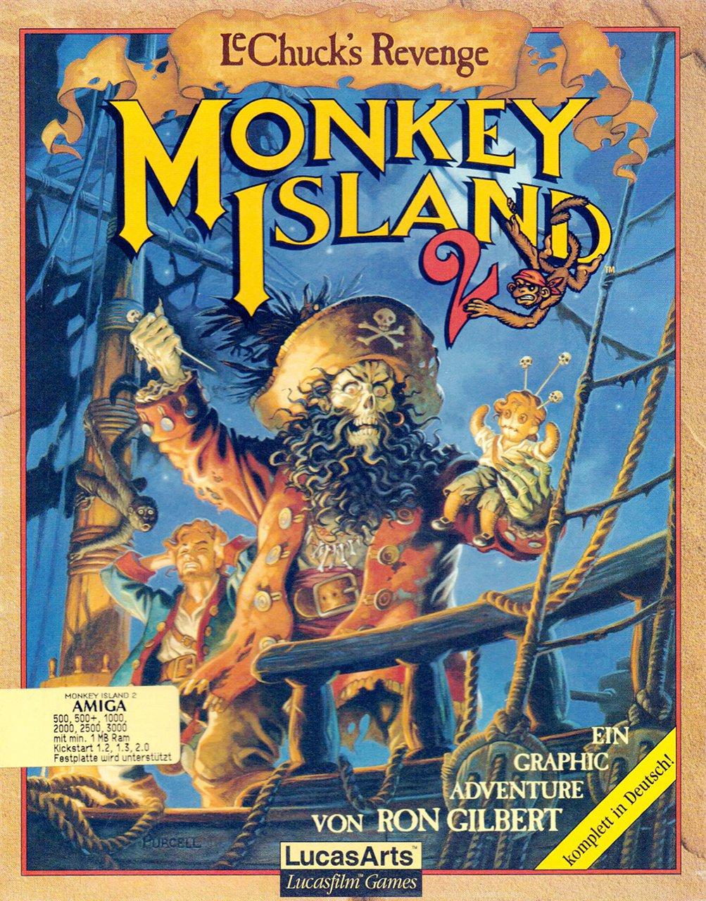 Monkey Island von Ron Gilbert. Ein Meilenstein der humoristischen Adventures. (Bild: LucasArts)