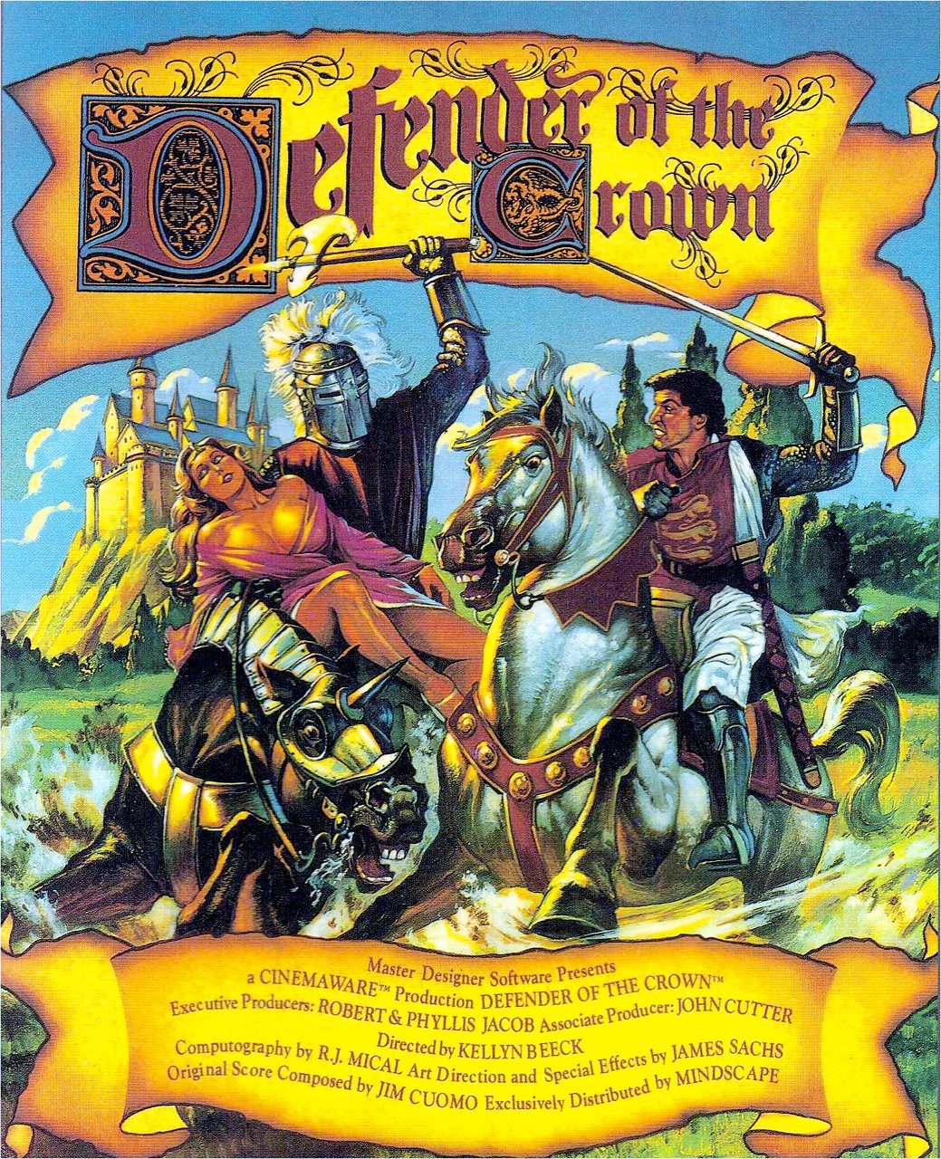 Defender of the Crown von Cinemaware. Action und Strategie im rauhen Mittelalter. (Bild: Cinemaware)