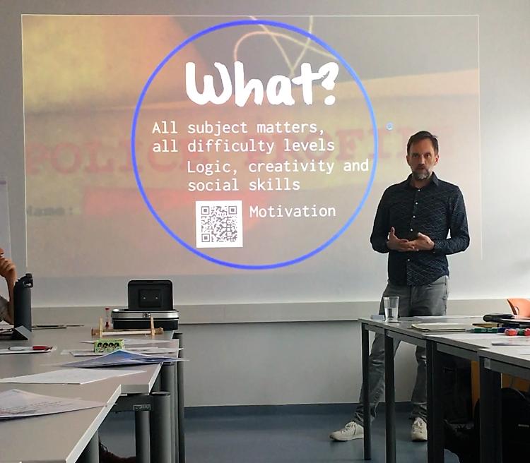 play@learn//experts interaktive Vortragsreihe an der Pädagogischen Hochschule Wien, Thema escape rooms im Klassenzimmer (Bild: Thomas Kunze)