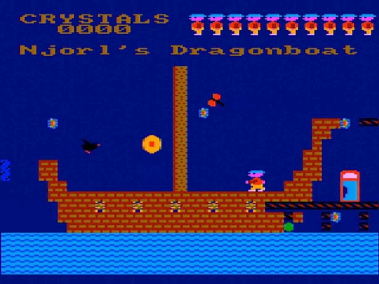 Roland in Time - Amsoft/Gem Software 1984. Roland sucht auf einem Piratenschiff nach den begehrten Kristallen. (Bild: André Körnig - CPC 464 capture)